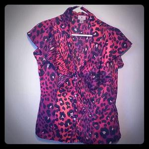 💖Leopard Print Dress Shirt